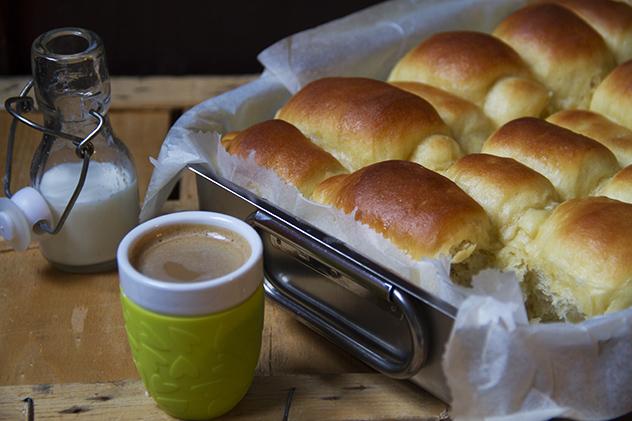 parker house rolls - panini soffici