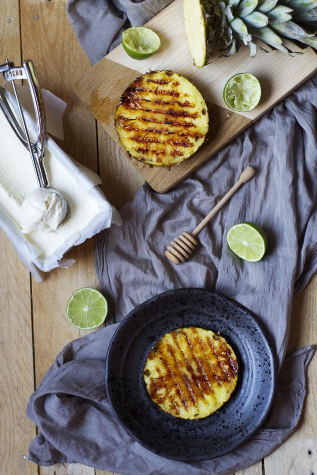 Ananas grigliato con gelato al cocco_06