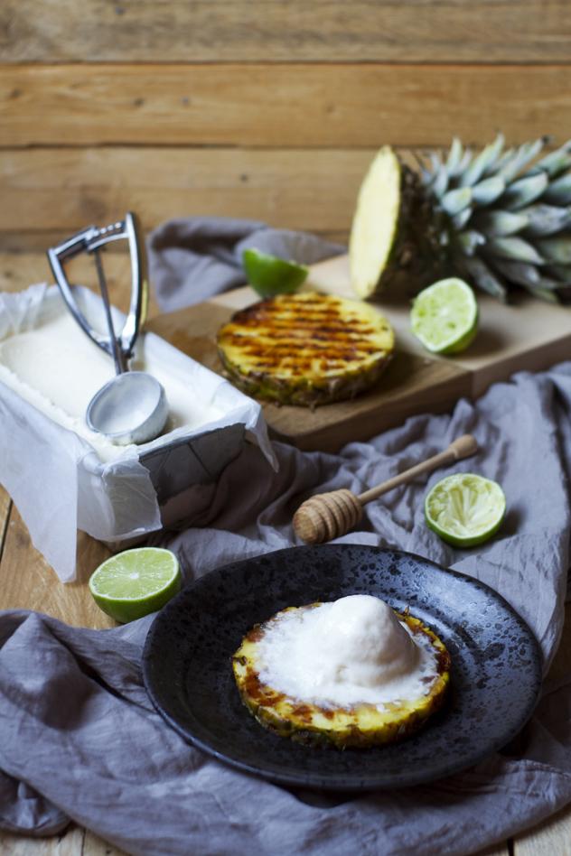 Ananas grigliato con gelato al cocco_08