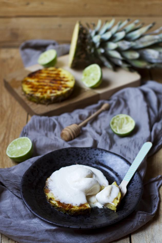 Ananas grigliato con gelato al cocco_09