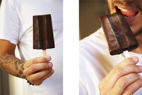 ghiaccioli al cioccolato