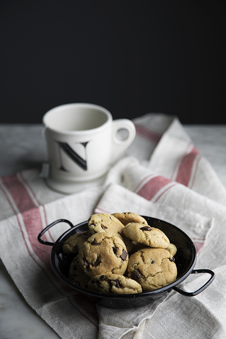 cookies con gocce di cioccolato veg