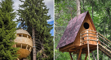 Fuga nella natura - Casa-Pigna della Malga Priu e Casetta del Tree Village