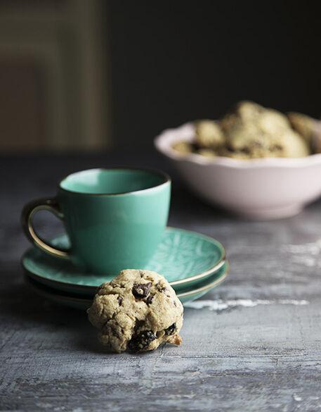 Biscotti senza lattosio con gocce di cioccolato e mirtilli rossi