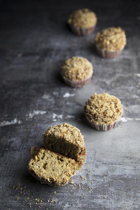 Muffin alla banana senza lattosio con crumble