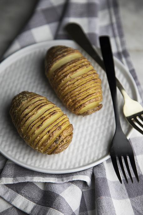 hasselback potatoes con ghee