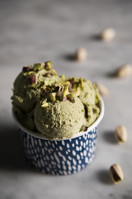 Gelato veg al pistacchio senza gelatiera (senza soia)
